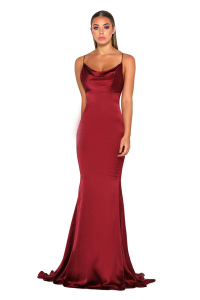 DANA GOWN DEEP RED