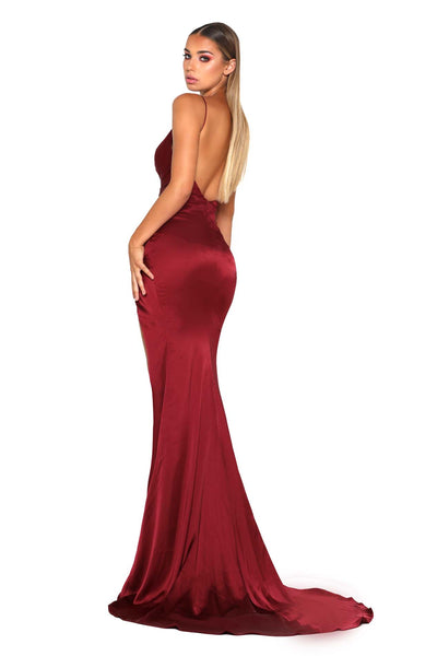 HUGO GOWN DEEP RED