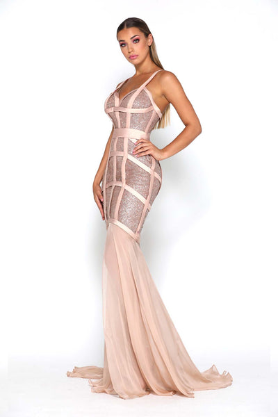 LAIS GOWN ROSE GOLD