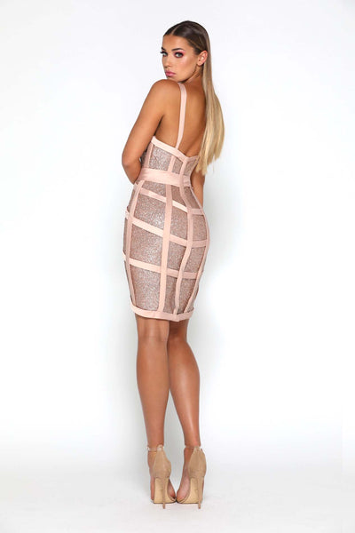 LAIS SHORT DRESS ROSE GOLD
