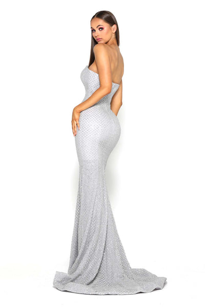 TYRA GOWN SILVER