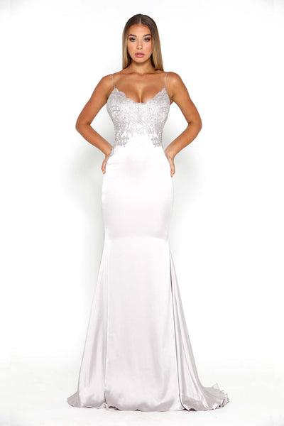 VALENTINA GOWN SILVER