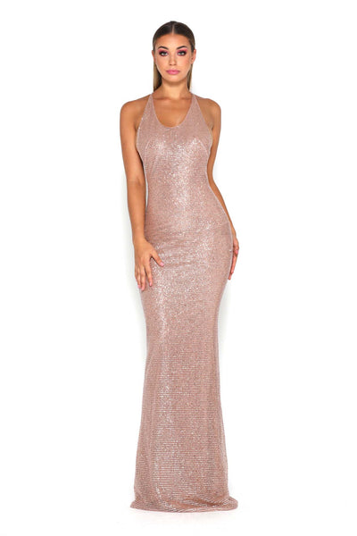 YVONNE DRESS ROSE GOLD