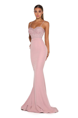 FROZEN GOWN NO LACE TRAIN BLUSH