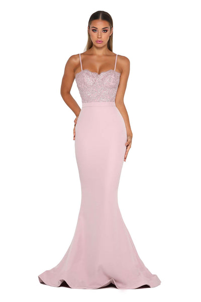 FROZEN GOWN NO LACE TRAIN MAUVE