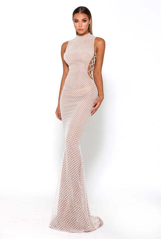 ZACHERY GOWN WHITE