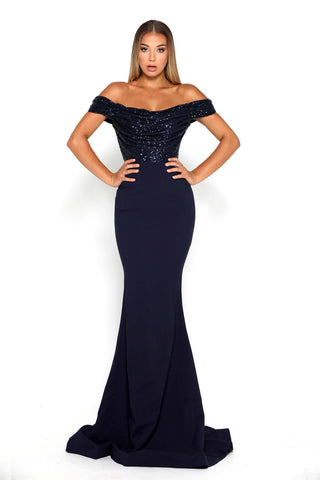 DIAMOND GOWN NAVY