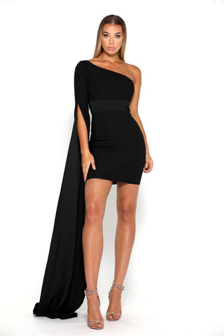 ANNA ONE SHOULDER BLACK