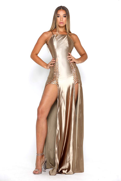 CHANTEL DRESS GOLD