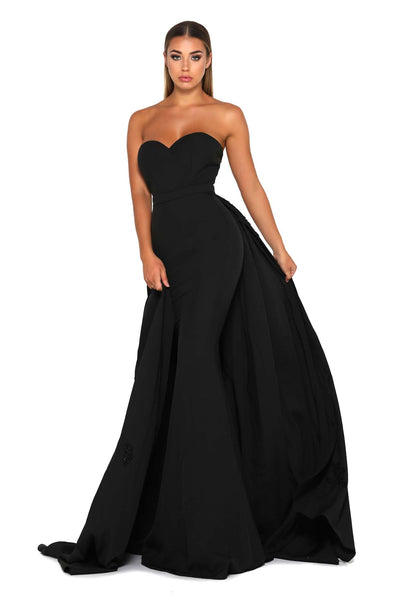 ENDORA STRAPLESS BLACK