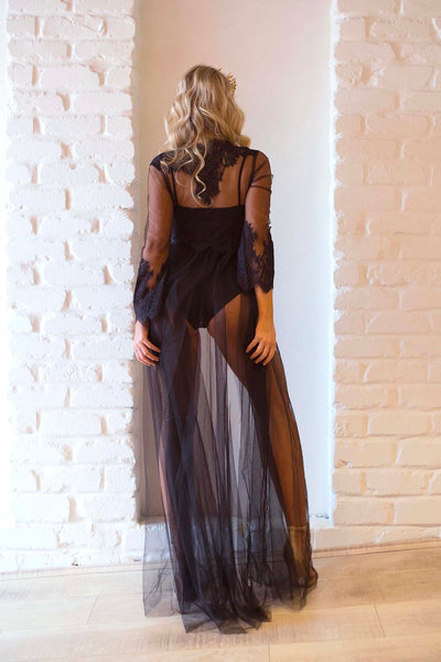 AMINA ROBE BLACK