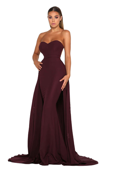 ENDORA STRAPLESS PLUM