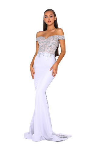 PS5026 GOWN SILVER