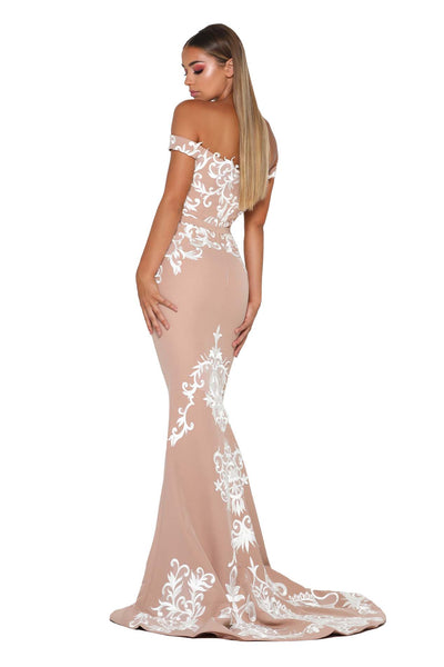 LEVAN GOWN NUDE IVORY