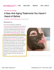 New Beauty-5 New Anti-Aging Treatments You Haven't Heard of Before