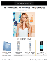 The Zoe Report - The Supermodel-Approved Way To Fight Pimples