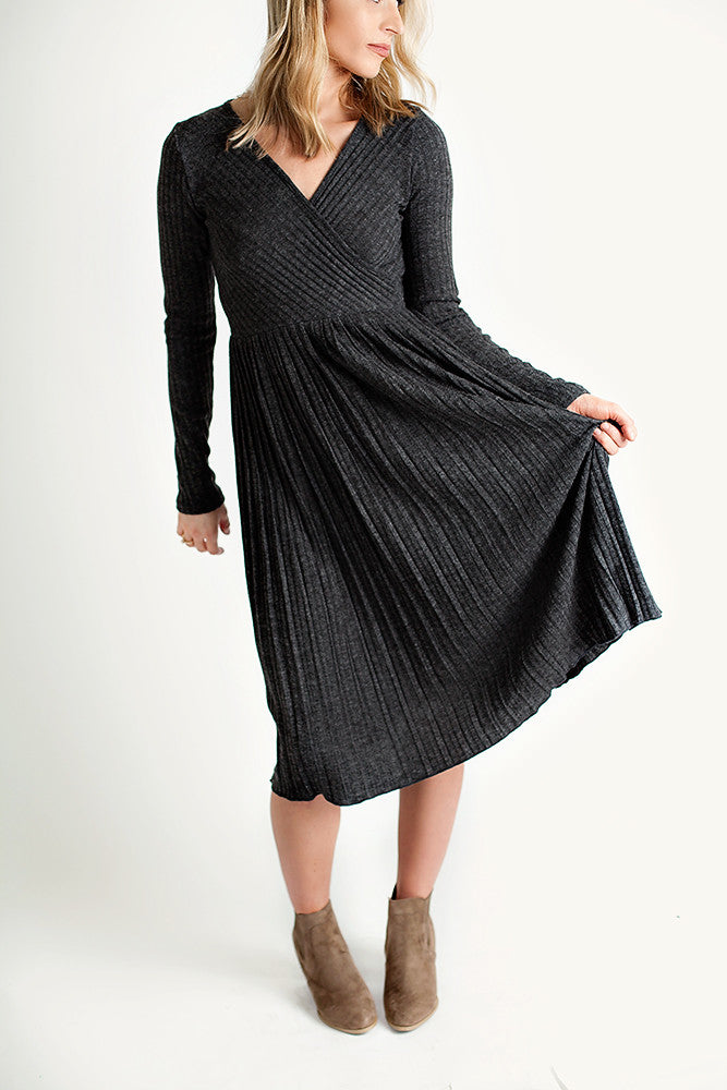 Charcoal Holiday Dress
