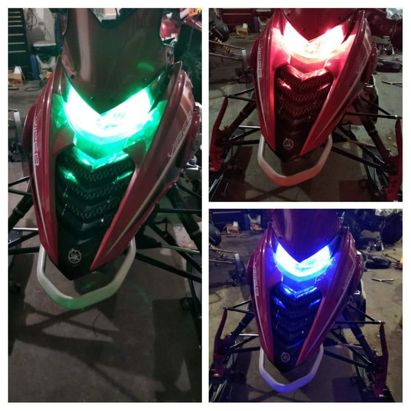 Custom Color Bluetooth Snowmobile LED Headlight Kits