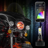 Motorcycle Bluetooth Headlights, Custom Color