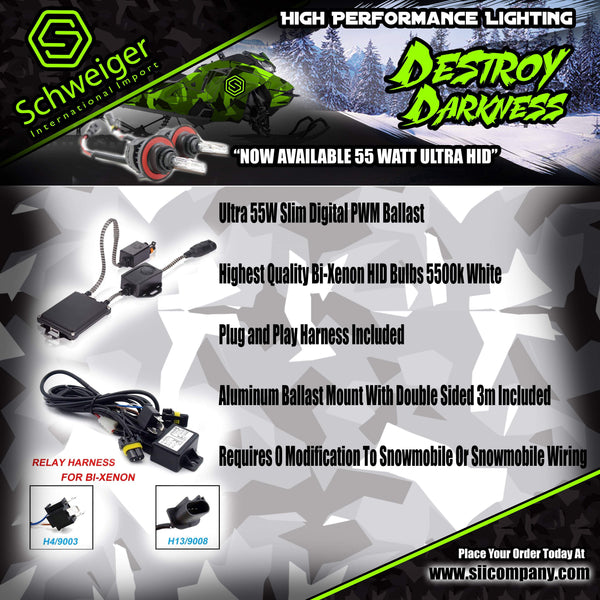 Brightest Snowmobile HID Kit