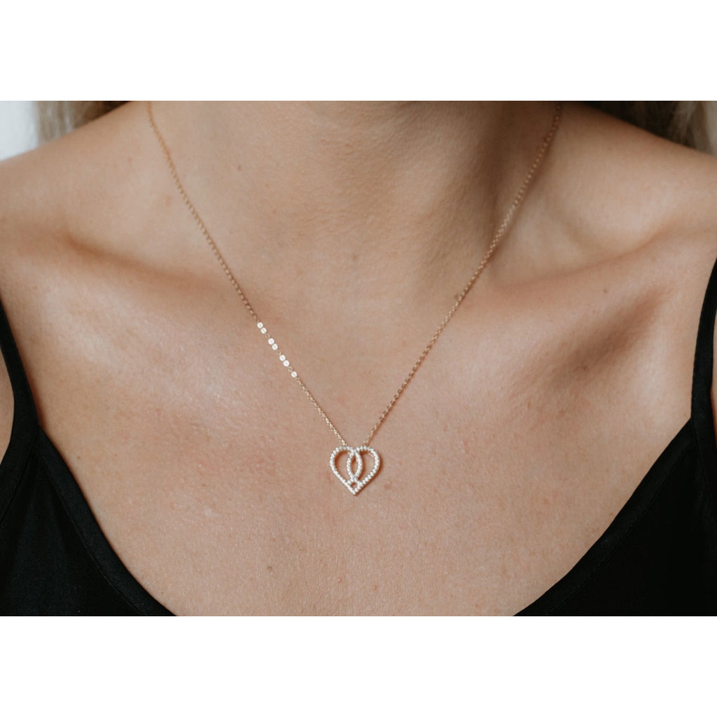 Pavé Stone Silhouette Necklace
