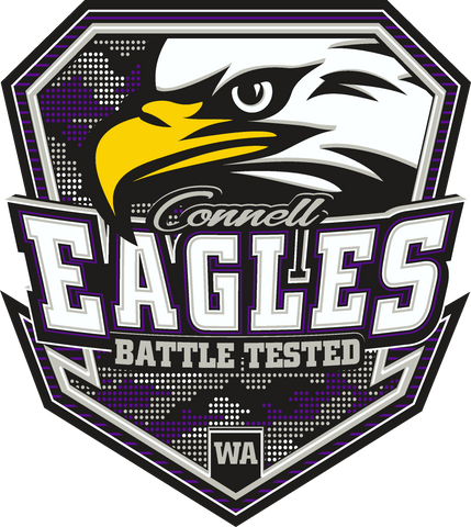 Connell Eagles - Battle Tested Logo