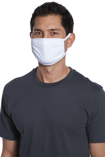 White 3-Ply - (5-pack) Cotton Face Masks