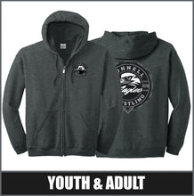"Load image into Gallery viewer, ""Insignia"" Full Zip Hoodie - CHS Wrestling"