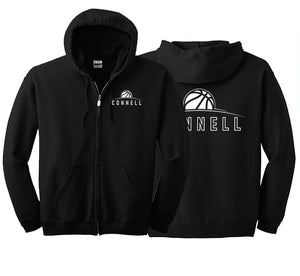 """Rise"" Full Zip Hoodie - Connell Basketball"