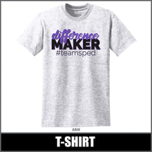 "Load image into Gallery viewer, ""Difference Maker"" T-Shirt - #teamsped"