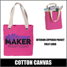 "Load image into Gallery viewer, ""Difference Maker"" Allie Tote - #teamsped"