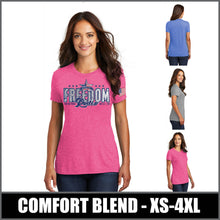 Load image into Gallery viewer, Ladies Tri-Blend T-Shirt - Freedom Rodeo