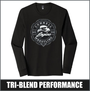"""Insignia"" Tri-Blend Long Sleeve - CHS Wrestling"