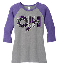 Load image into Gallery viewer, Women's Tri-Blend 3/4-Sleeve Raglan - Olds Jr High