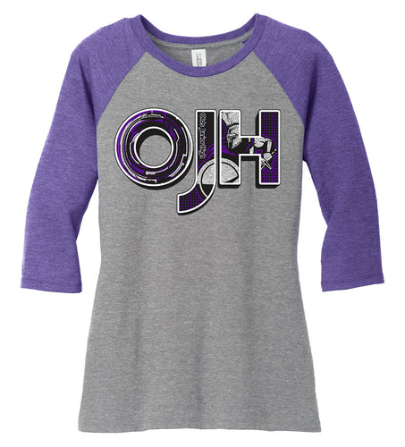 Women's Tri-Blend 3/4-Sleeve Raglan - Olds Jr High
