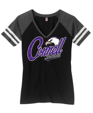 Load image into Gallery viewer, District Made® Ladies V-Neck Tee - Connell Baseball