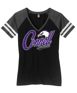 District Made® Ladies V-Neck Tee - Connell Baseball