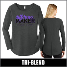 "Load image into Gallery viewer, ""Difference Maker"" Tunic Long Sleeve - #teamsped"