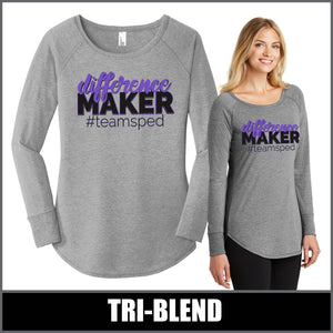 """Difference Maker"" Tunic Long Sleeve - #teamsped"
