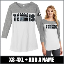 "Load image into Gallery viewer, Chrome ""Shadow"" Ladies Rally 3/4 Sleeve - CHS Tennis"