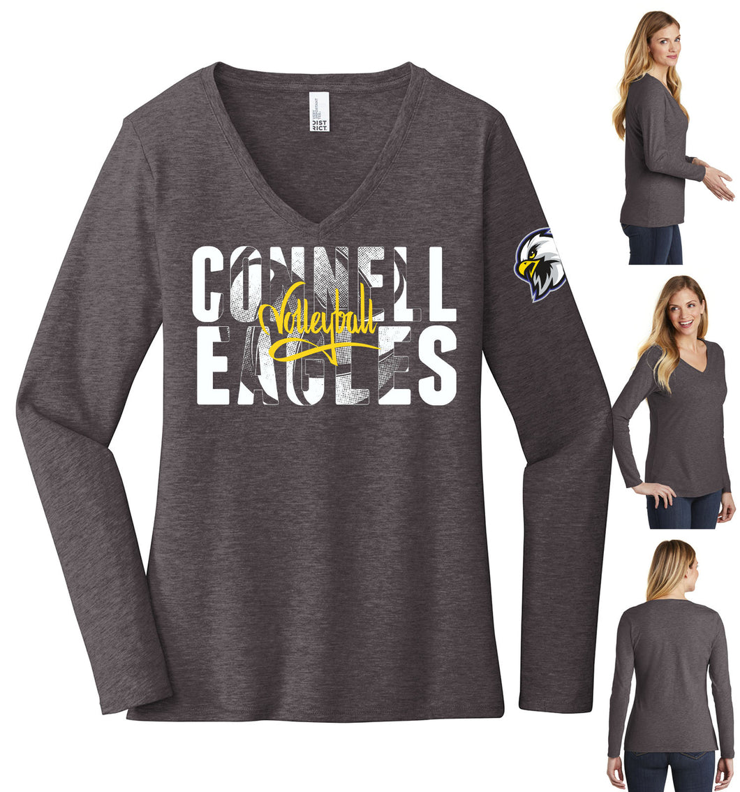 Ladies Long Sleeve V-Neck - Connell Volleyball