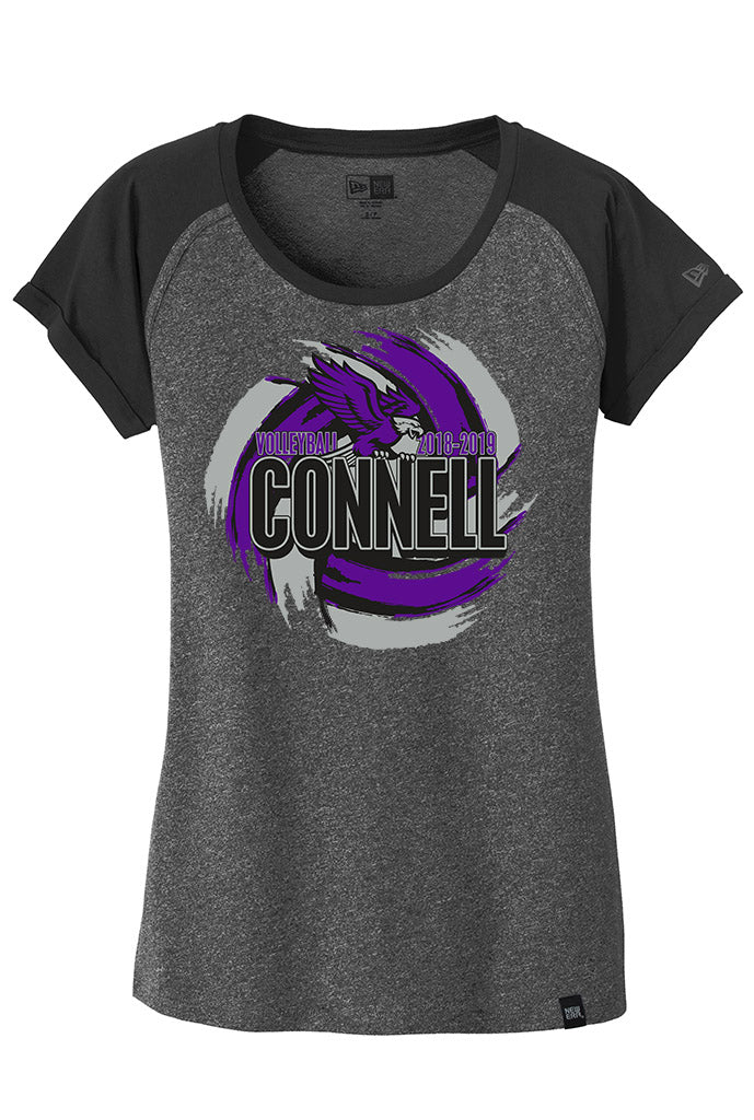New Era® Ladies Heritage Blend Varsity Tee - Connell Volleyball