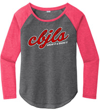 Load image into Gallery viewer, Ladies Tri-Blend Scoop Neck Raglan Tee - CBJLS