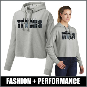 """Shadow"" Ladies Tri-Blend Crop Hoodie - CHS Tennis"