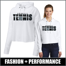 "Load image into Gallery viewer, ""Shadow"" Ladies Tri-Blend Crop Hoodie - CHS Tennis"
