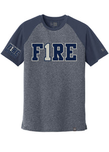 New Era® Varsity Tee (standard or ladies) - FIRE 1