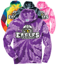 "Load image into Gallery viewer, ""HELMET"" Tie-Dye Hoodie - Connell Football"