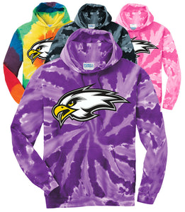 "CHS ""EAGLE"" Tie-Dye Hoodie - Connell Volleyball"