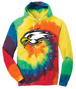 """EAGLE"" Tie-Dye Hoodie - CHS Girls Basketball"