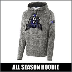 """Apex"" Electric Heather Hoodie - Olds Junior High"